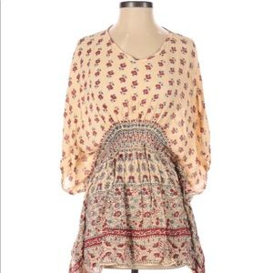 Earthbound Small Floral boho peasant blouse